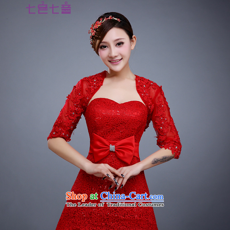 7 7 color tone 2015 new marriages water-soluble lace shawl wedding dresses accessories ) in the summer the red sleeve shoulder red are Code Camp