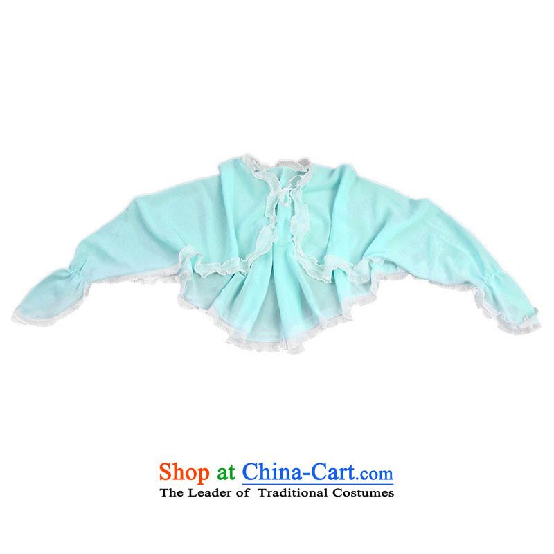 Sunscreen shawl female summer cycling driving UV Long-Sleeve chiffon power summer sunshade mantle light blue