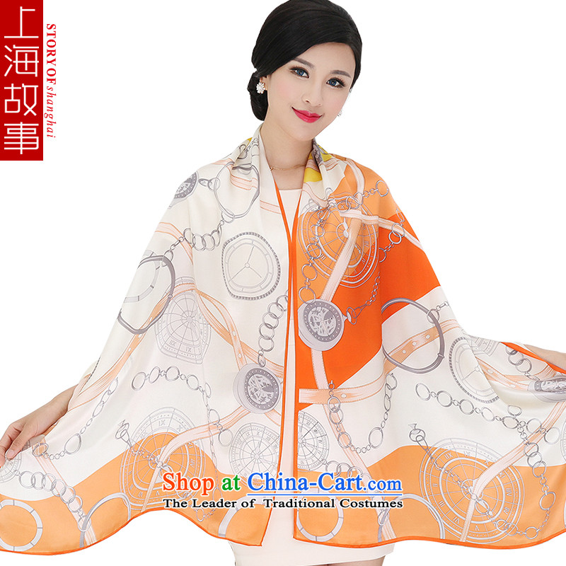 Shanghai Story silk scarves herbs extract, upscale long silk scarf shawl 5#