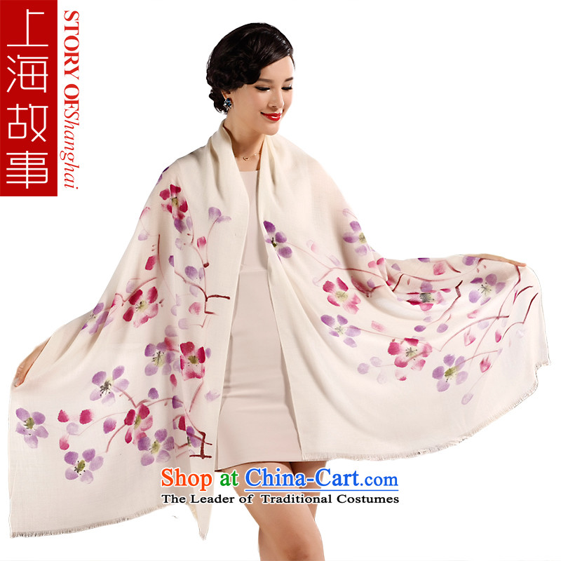 Shanghai Story Ms. wooler scarf autumn and winter warm hand painted pashmina shawl a long series of Yeoksam make a Phillips Purple