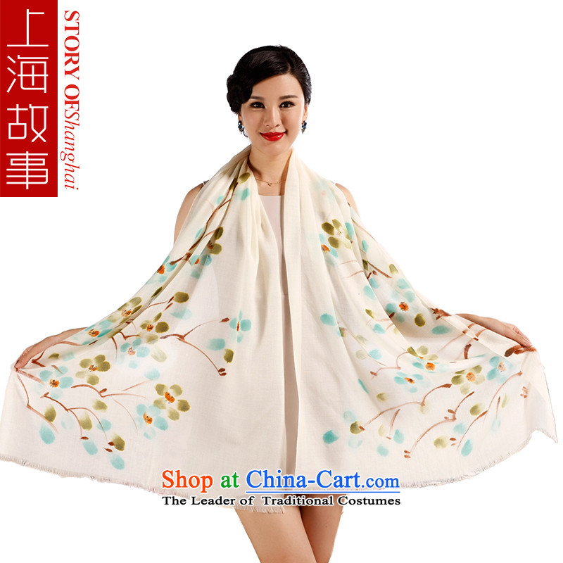 Shanghai Story Ms. wooler scarf autumn and winter warm hand painted pashmina shawl a long series of Yeoksam make a Phillips Green