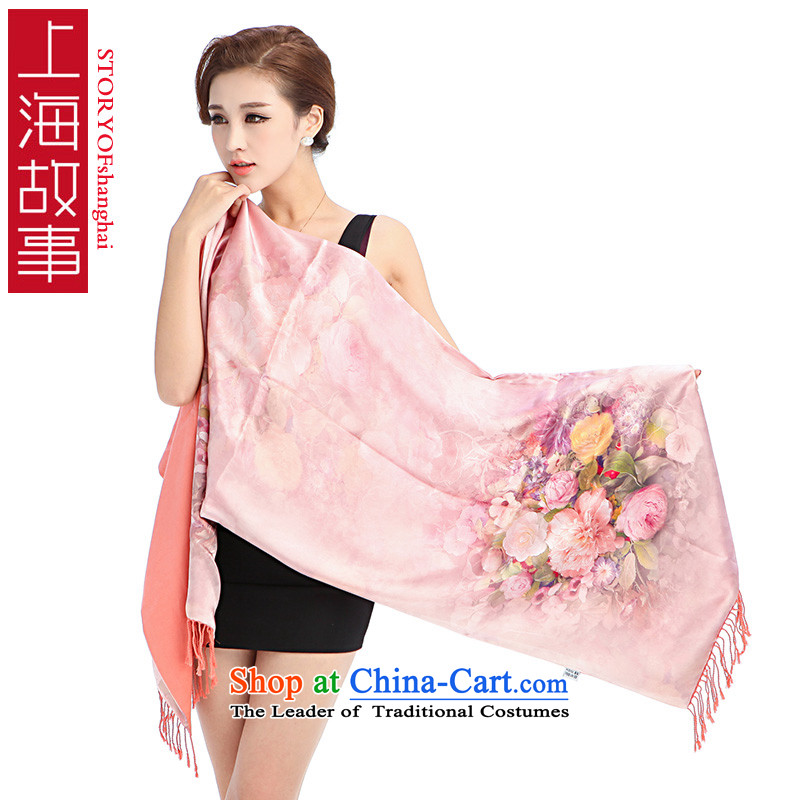 Shanghai Story silk scarves female summer ethnic herbs extract shawl scarf female sunscreen masks in picturesque聽11
