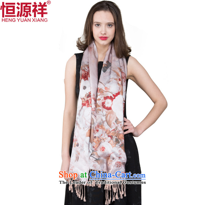 Hengyuan Cheung silk shawls ethnic female herbs extract long silk scarf summer sunscreen ) Female349-1# scarf