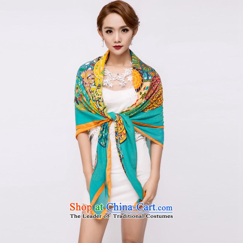The Hacker Yan Ms. silk scarf silk scarves also sauna sunscreen shawl masks in style 7 wide 150CM* long 150CM
