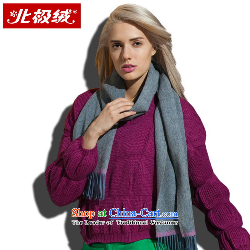 Arctic lint-free Pure Wool scarves, Sleek and versatile autumn and winter warm thick_ Olive Green