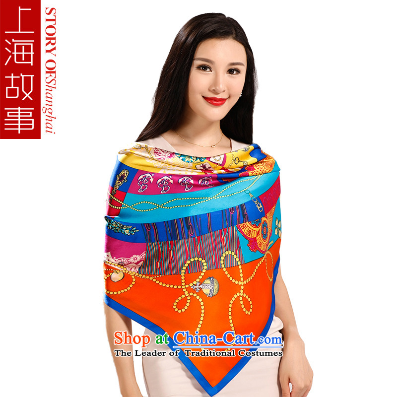 Shanghai Story shawl silk scarf female spring and autumn new silk scarves herbs extract scarf and classy and stylish modern female towel