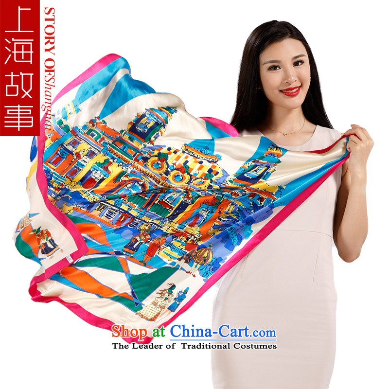 Shanghai Story silk scarves female summer herbs extract Fancy Scarf Western Europe and stylish, classy and towel wind