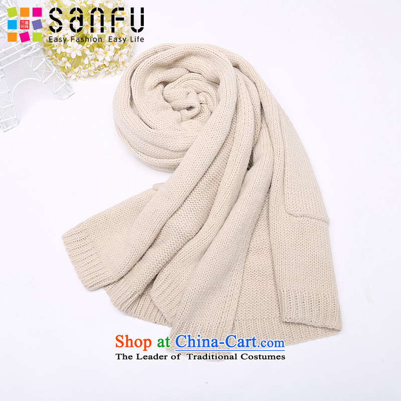 Three new 2015 Ms. Fu Scarf Korean Sleek and versatile warm knitted cardigans long scarf 744107 Beige