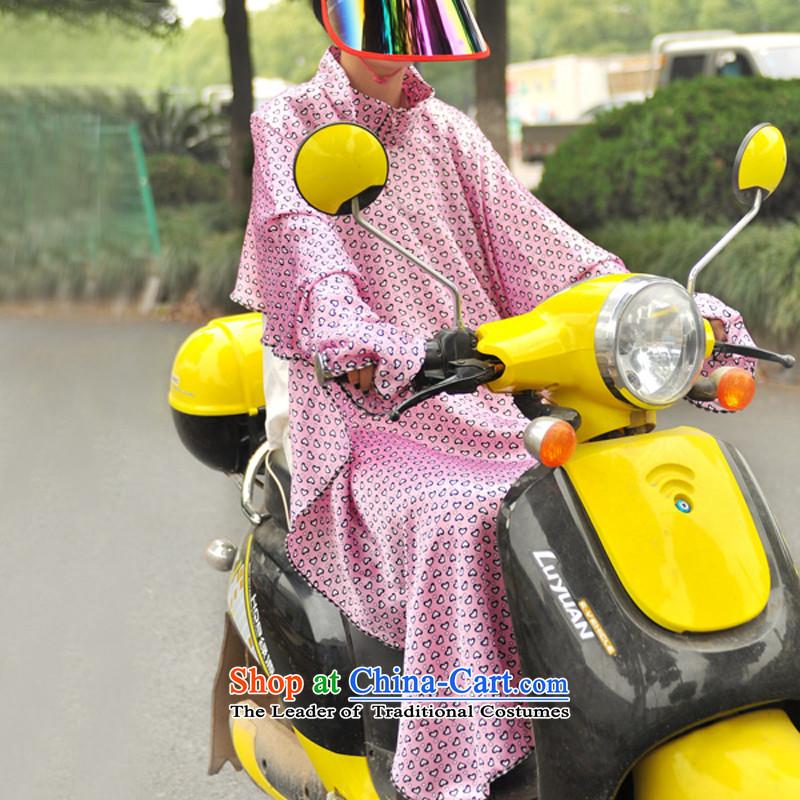 Power sunscreen Yi Girls summer biking sunscreen UV sunshade long-sleeved shawl pink Love