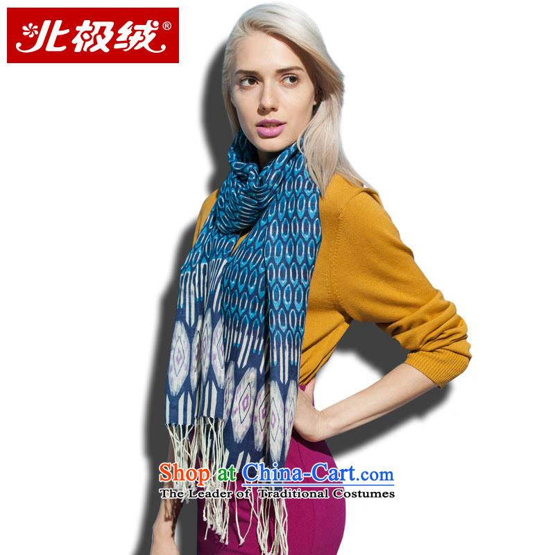 Arctic lint-free satin woolen cravat soft and comfortable female lan stamp