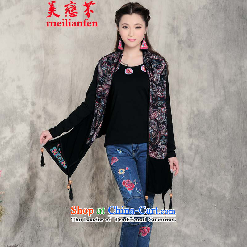 The United States Land Law聽  D2015 embroidery scarves, autumn and winter national air conditioning large shawl edging shawl female h532-085 map color