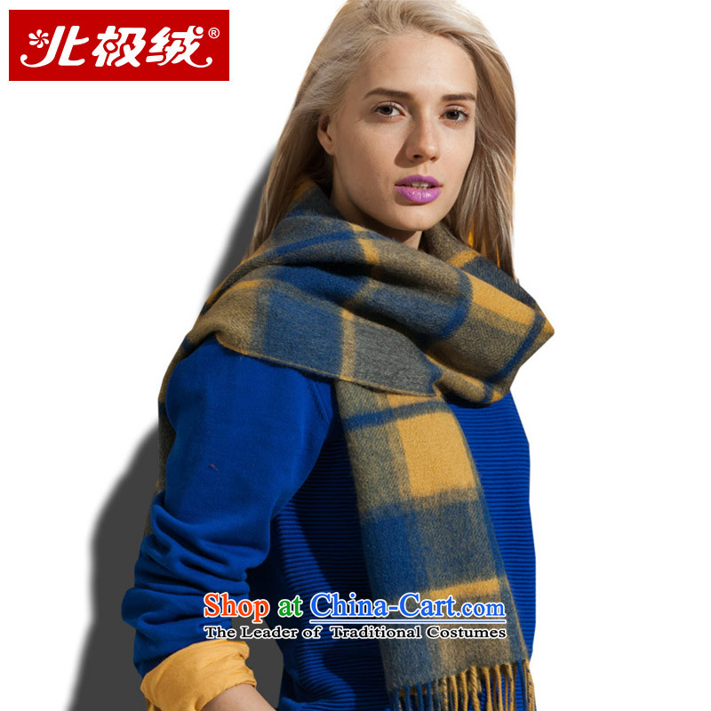 Arctic lint-free Cashmere scarf ripple duplex western grid of autumn and winter warm thick, female, Huang