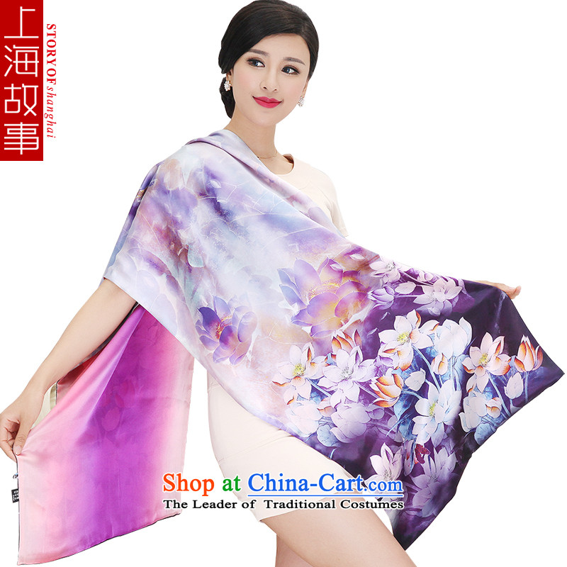 Shanghai Story silk scarves silk scarf art silk maxi double disk detained shawl 100 herbs extract Ms. Long22# Zhuangfu