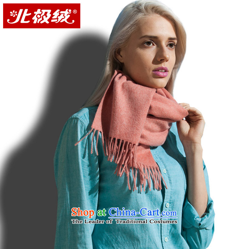 Arctic lint-free Cashmere scarf of solid color water fall and winter warm thick, female spell orange