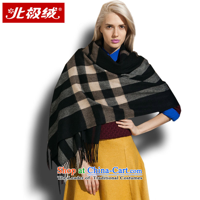 Arctic lint-free Pure Wool scarf large shawl female autumn warm winter thick long two with women and of black