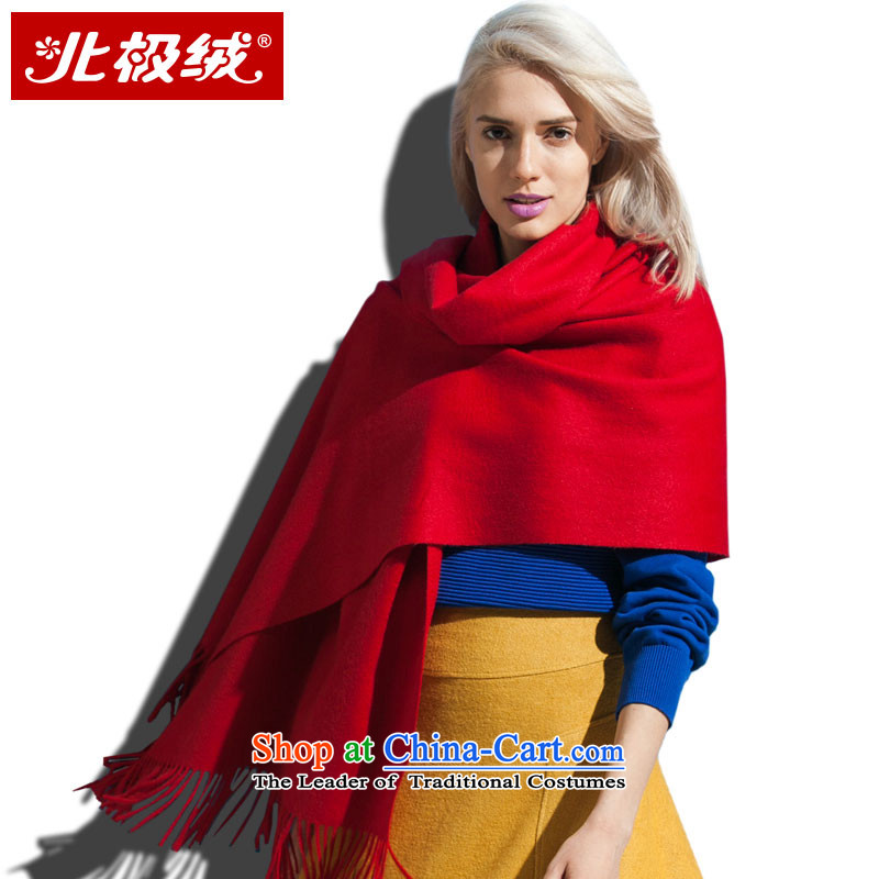 The Arctic Winter 2015, lint-free Pure Wool Ms. new large scarf shawl oversized specifications warm thick, wear the wild utility red