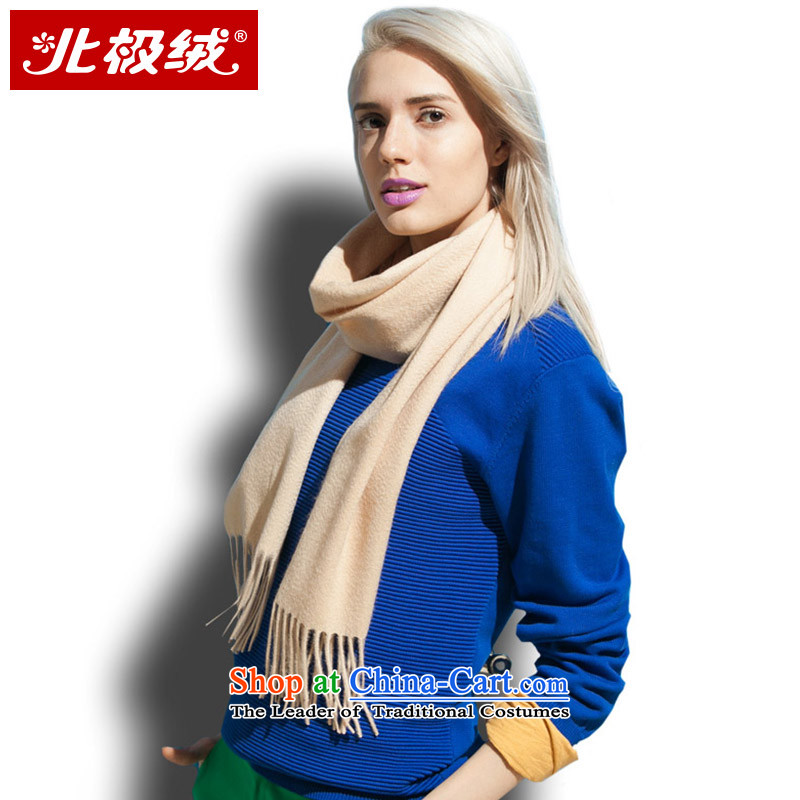 Cashmere scarf arctic lint-free of autumn and winter solid color warm thick, Female Light Yellow