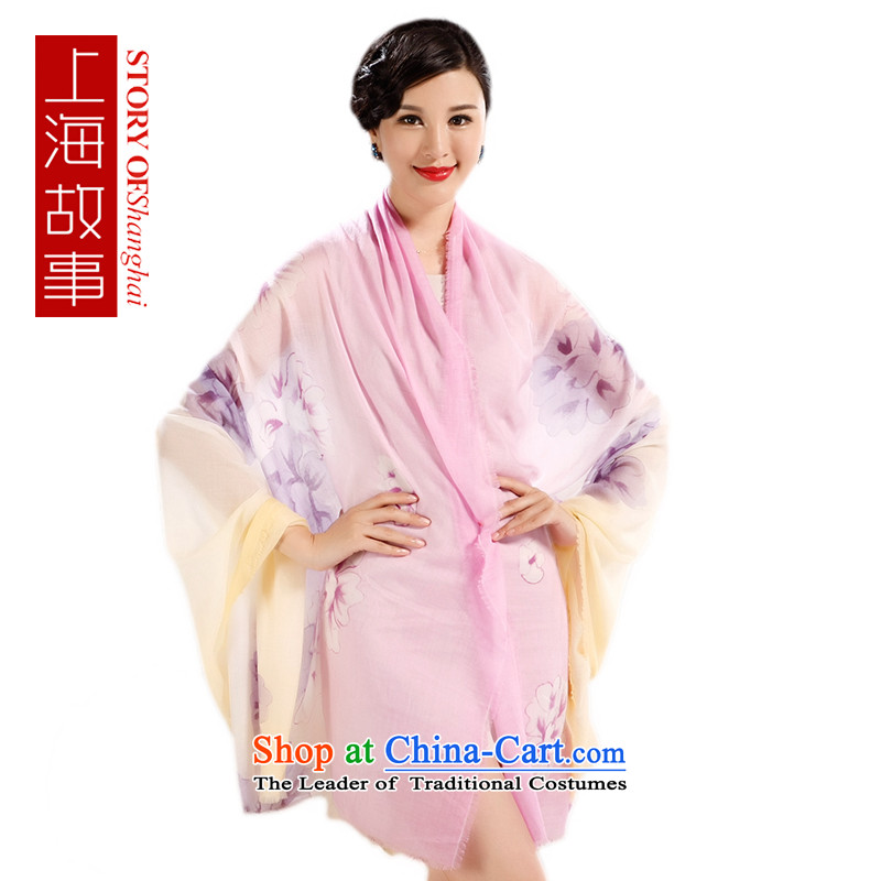 Shanghai Story Ms. silk scarf 300 Cashmere scarf, new ink spread cashmere charm flower Dancing