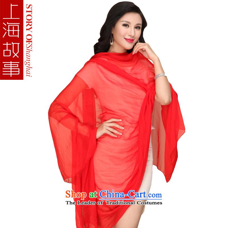 Shanghai Story silk scarf emulation silk scarves Ms. chiffon solid color silk scarf scarf female shawl masks in red