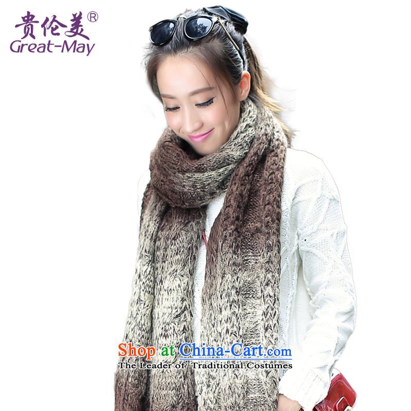 The Karen Korea stylish gradient warm Knitting scarves women Fall Winter twist a WJ0059 knitting Ms. lady m colorway