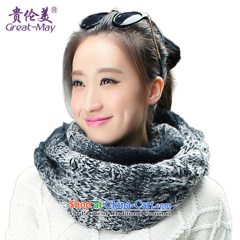 The beauty of autumn winter Korea Chou version of the gradient knitting a warm sweater, a gray color black WB0021