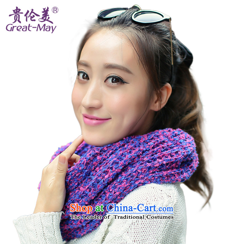 The US military also female autumn of knitted winter Korean color mix Ultra-soft warm Knitting scarves knitted Ms. Wai Shing WB0022 Blue Pink