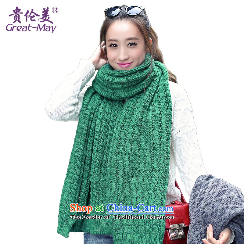 The version of the US-ROK military dual color Knitting scarves long widened the girl autumn warm Winter Sweater a president WJ0053 thick green black 2010