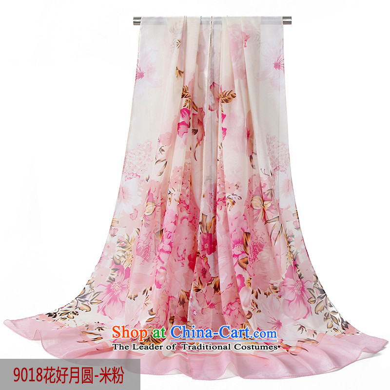 Uv sunscreen shawl smock female driving power cycling sunshade shawl silk scarf9018 elixir - rice flour