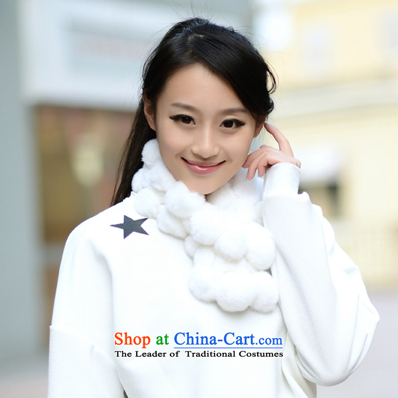 Fur scarf of autumn and winter day new fur, rabbit hair a shawl stylish Korean Winterizing Warm White