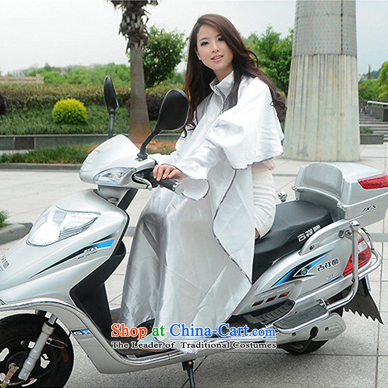 Power sunscreen shawl summer cycling is sunscreen yi mantle, UV-shaded long-sleeved silver