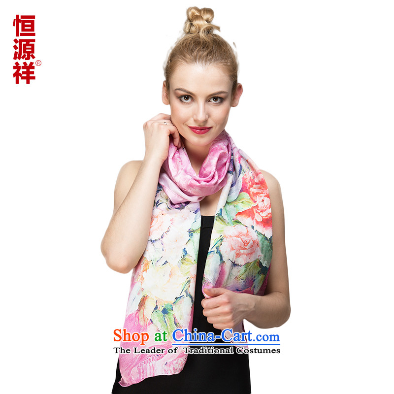 Hang Cheung of the Jurchen people population source silk scarf summer sunscreen ), a 100% long masks in sauna silk scarf chiffon large shawl angle pin no.34 170*50 Ms.