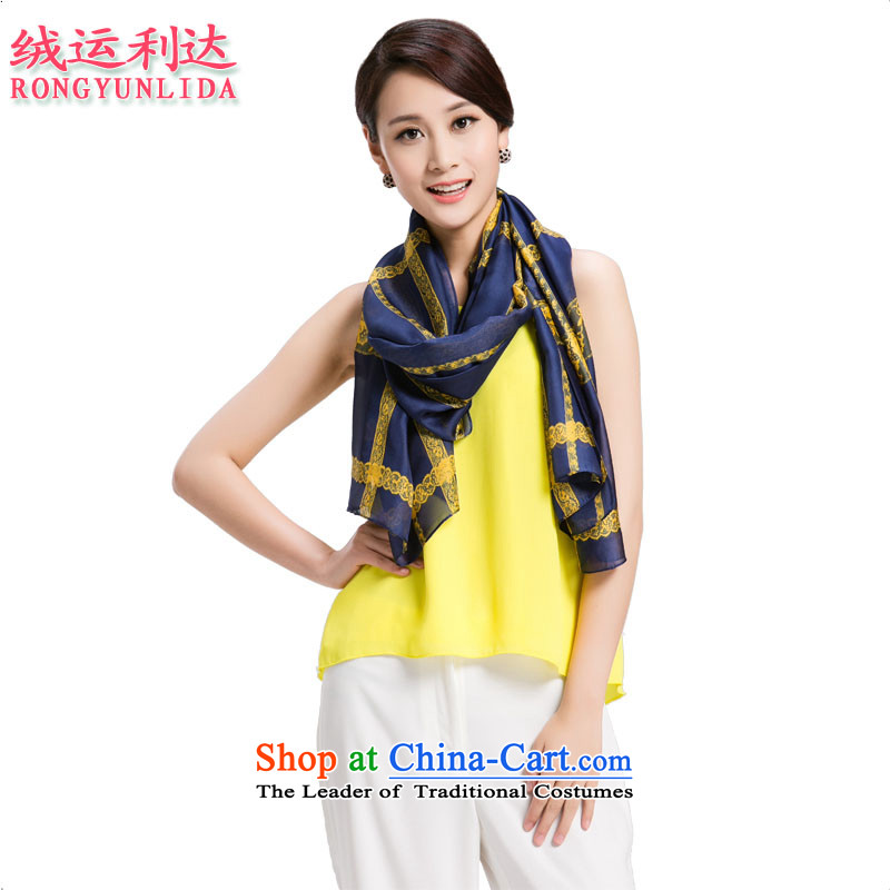 Lint-free trading of silk scarves female summer sunscreen Shawl ) Solid Color Grid Style 7. Both code of the scarf