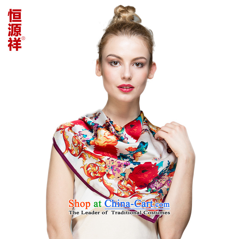 Ms. Cheung Hengyuan silk and classy towel herbs extract scarf summer long silk scarf) sunscreen shawl snow spinning towel 30#-02 90*90