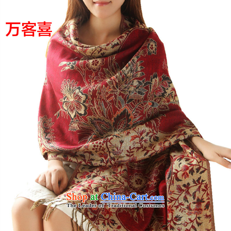 Guest-hi scarf girls million autumn and winter, two in Korean version of shawl edging of Chinese red cicada