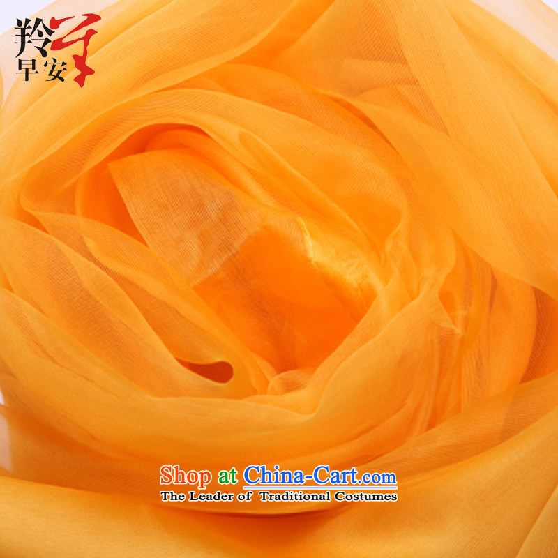 Good morning antelope silk, double dragon OSCE root yarn herbs extract silk scarf scarf Michelle Ferrie - Kang Huang code