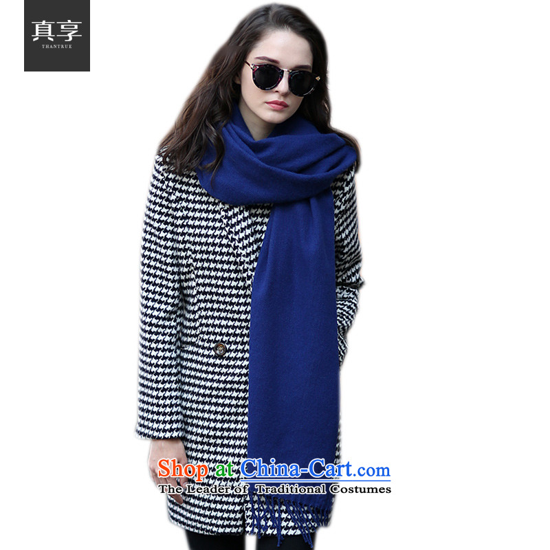 Really enjoy 2015 Korean new products wooler scarf of autumn and winter ultra-wide long warm shawl, edging4313W037 Royal Blue