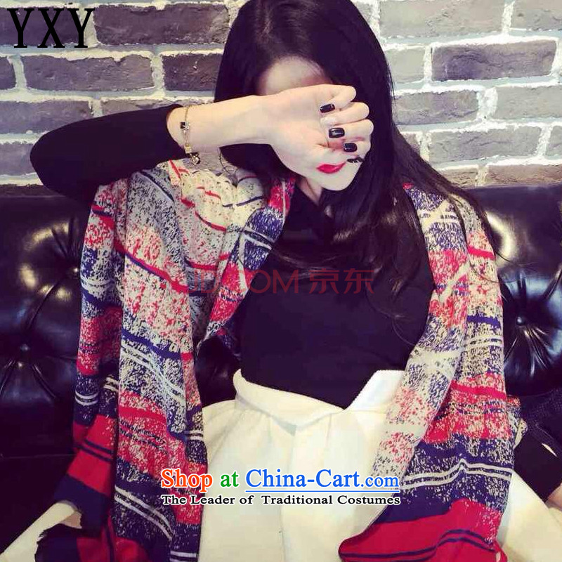 In line cloud small stylish retro spell-heung-color warm scarf wild cashmere shawls large scarf MC006 map color