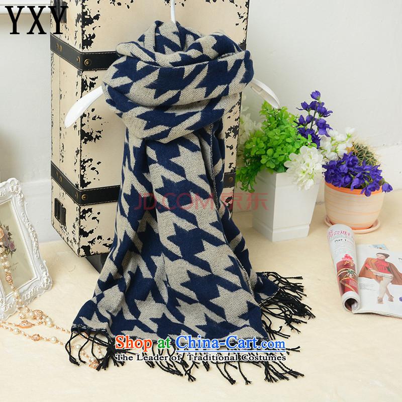 In line cloud popular Korean Wai chidori grid emulation /pashmina shawl stylish men and women the same warm shawl scarfMC010blue