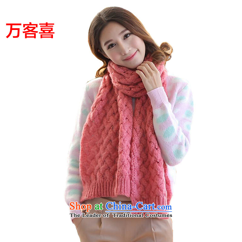Guest-hi scarf girls million Autumn and Winter Sweater thick emulation /pashmina shawl Pink