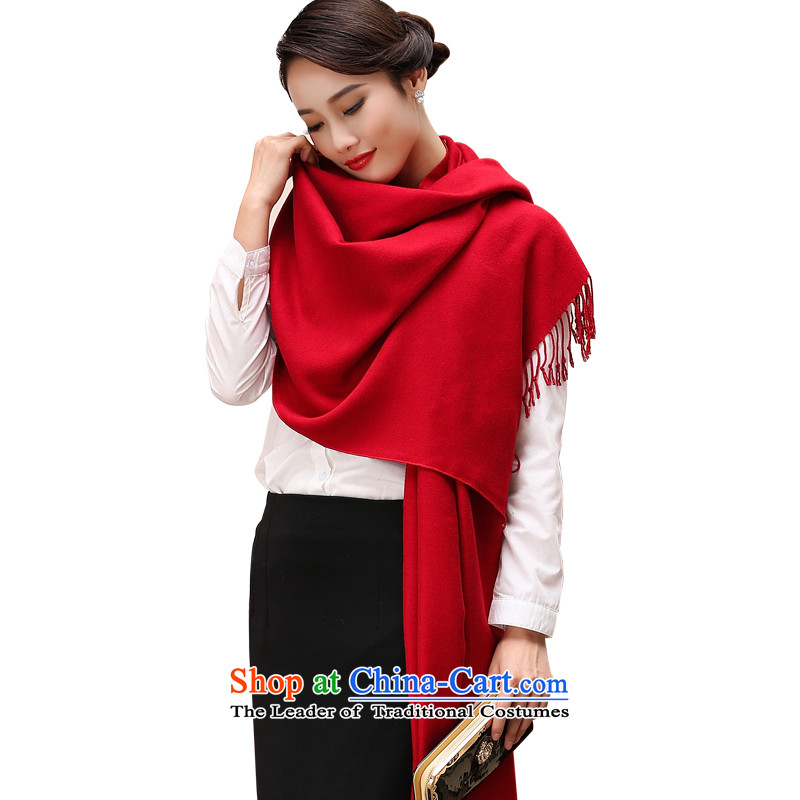 The Korean version of the new 2015 autumn and winter-couture warm longer scarves solid color large European and American national controversy shawl thick BohemiaWC35 a red