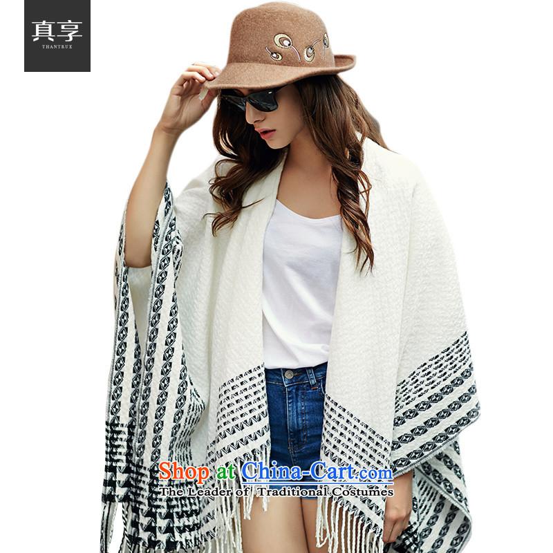 Really enjoy Sleek and versatile warm comfortable women woven Fancy Scarf W044 Cream