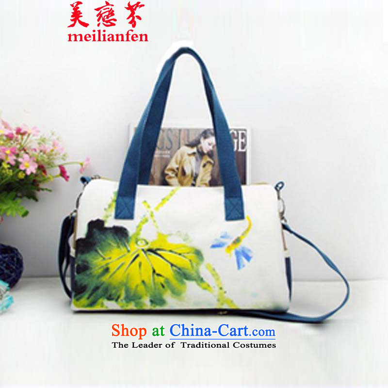 The Land Law, the United States of   ethnic Chinese ink painting frescoes D stylish bag hand-painted package canvas bag Ladies Bag package N915-a_o01 Picture Color