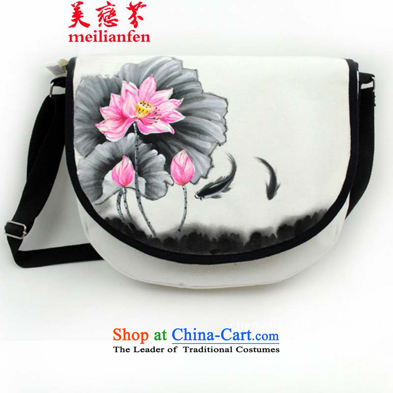 The United States Land Law   D2015 New hand-painted a stylish package China wind of ethnic women's messenger bag package N915-a_h01 Picture Color