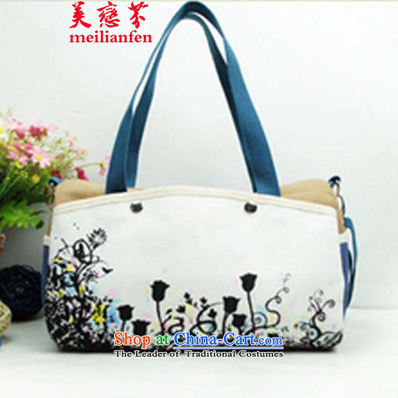The Land Law, the United States of   ethnic Chinese ink painting frescoes D stylish single shoulder bags hand-painted package canvas bag Ladies Bag package N915-a_p01 Picture Color