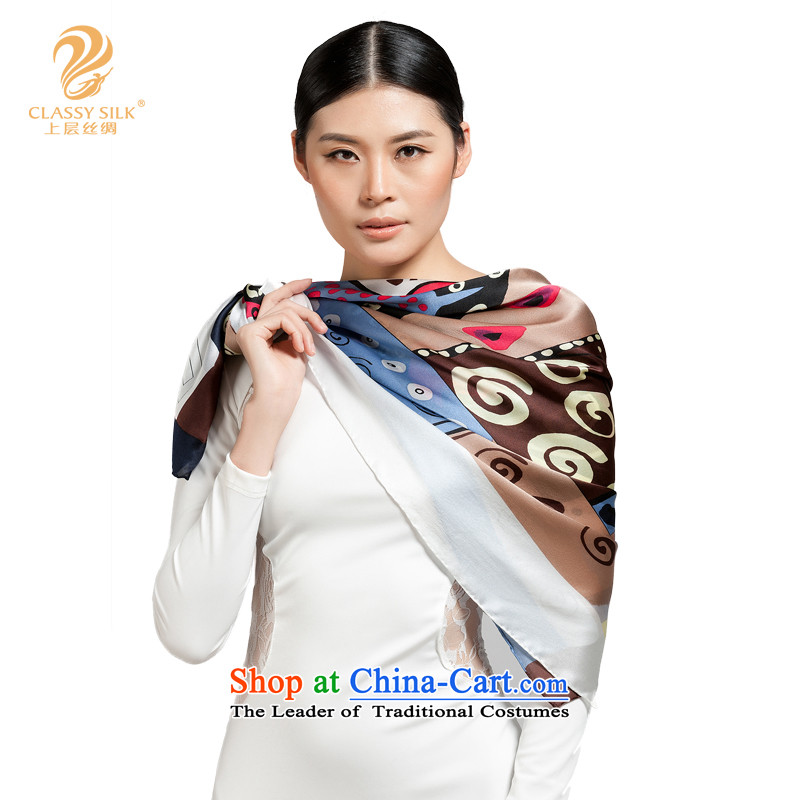 The upper layers of silk silk intensify shawl 100_ herbs extract high quality high-density is Ms. No. silk scarf Gray