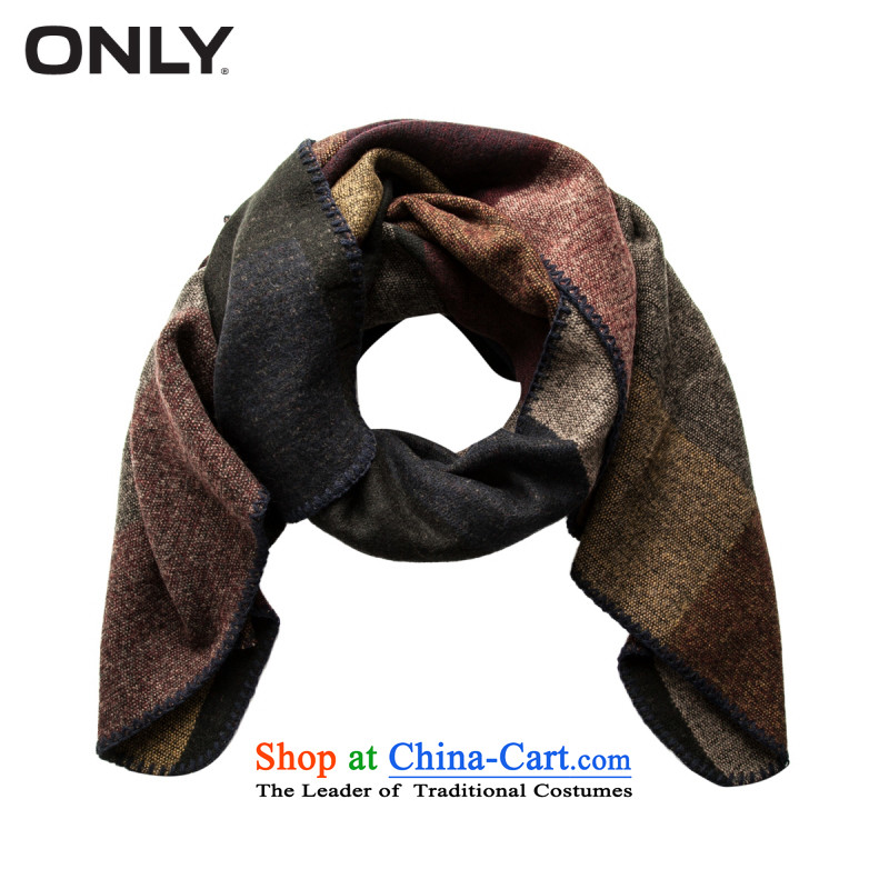 Load New autumn ONLY2015 stitching knocked colors ajar fork shawl scarf T|115388009 female 07A Bordeaux coloracc