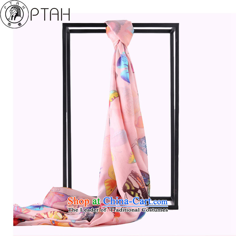 Ms. Buta silk scarves female herbs extract stamp extralong painting process herbs extract long silk scarf silk shawls orange Pink