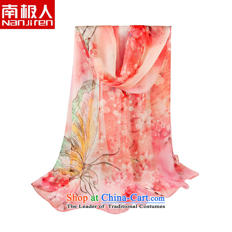 The Antarctic (nanjiren) silk scarves, scarf Blooming crazy dream poster masks in camouflage butterfly