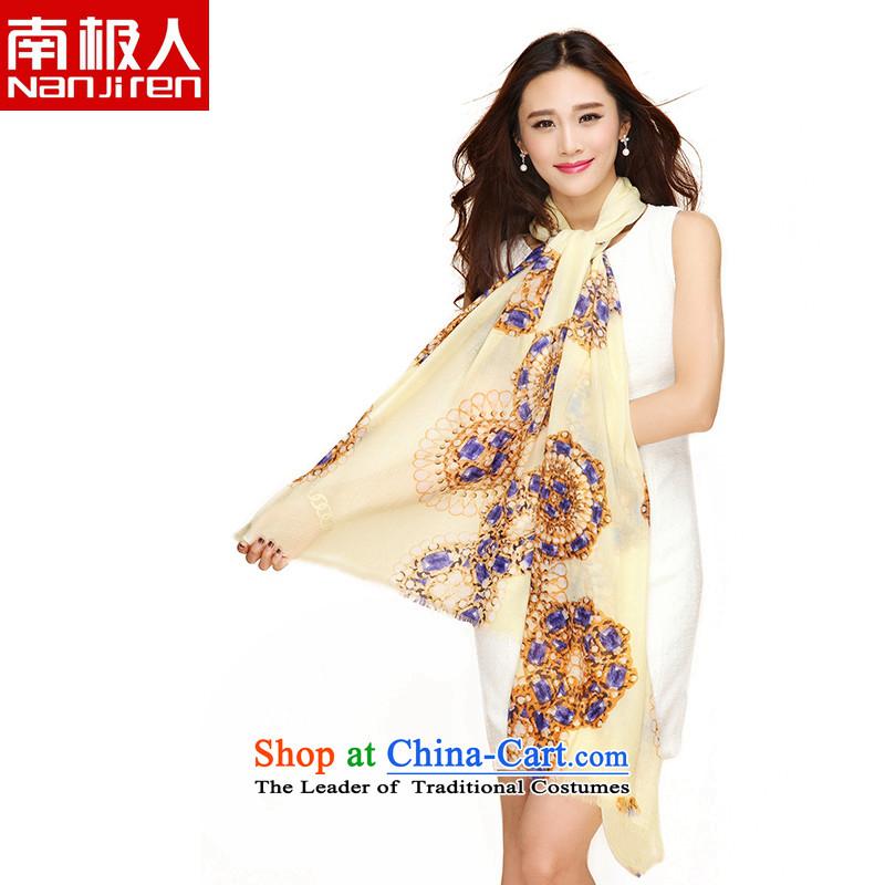 _nanjiren Antarctic_ Ms. wooler scarf twill dual-use-long stamp shawl gemstone Asaki