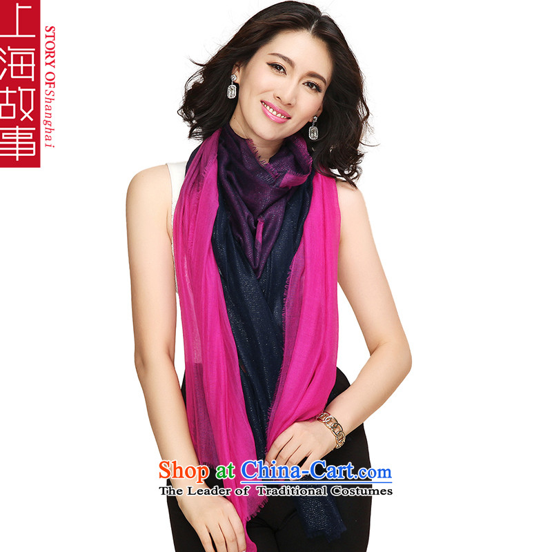 Shanghai Story pure Cashmere scarf, autumn and winter shawl a better red